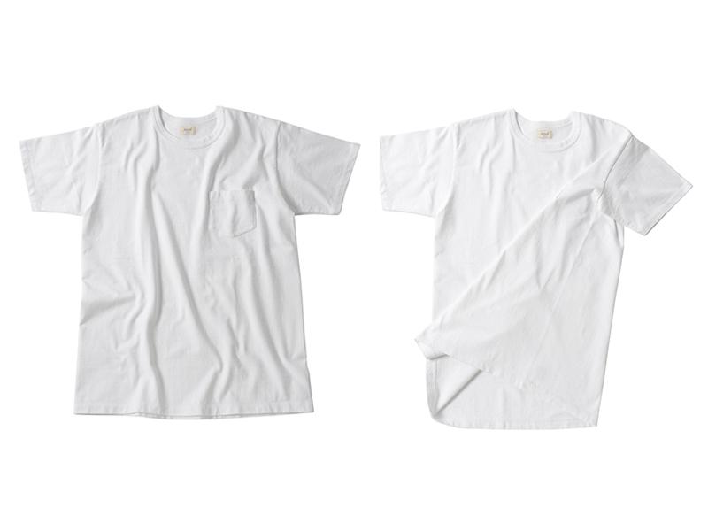 丸胴ポケットTシャツ White